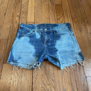 C Of H Tye Dyed Cut Off Distressed Jean Shorts